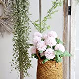 Glumes 1 Pcs Artificial Flower 2Head Round Hydrangea Wedding Bouquet Bride Holding Flowers Home Living Room Decoration Party Birthday Mother's Day New Year Christmas Decor