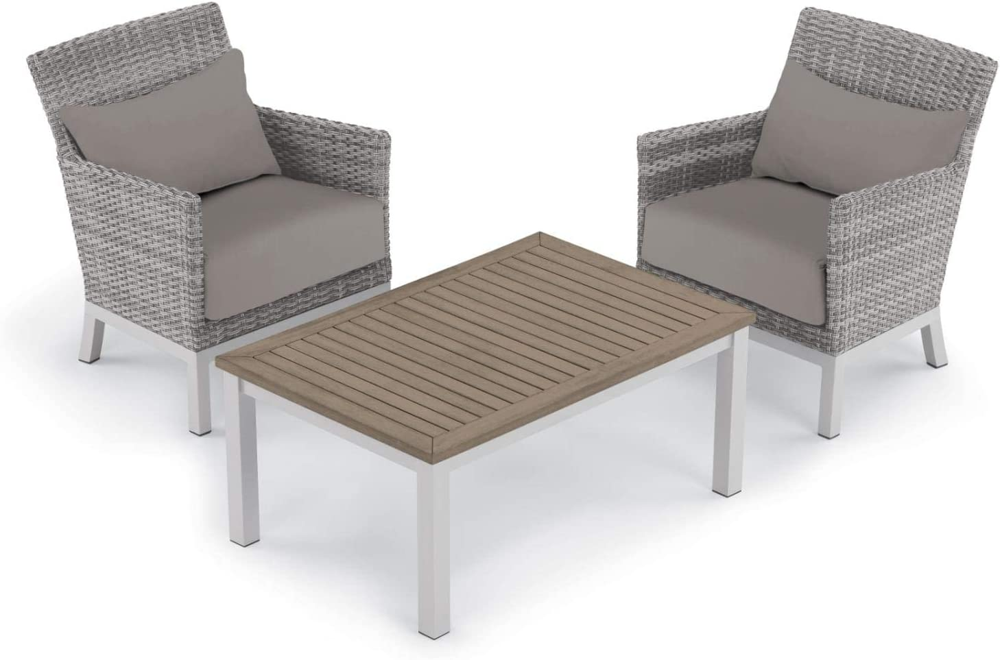 Oxford Garden 5552 Argento & Travira Furniture Set, Powder Coat Flint