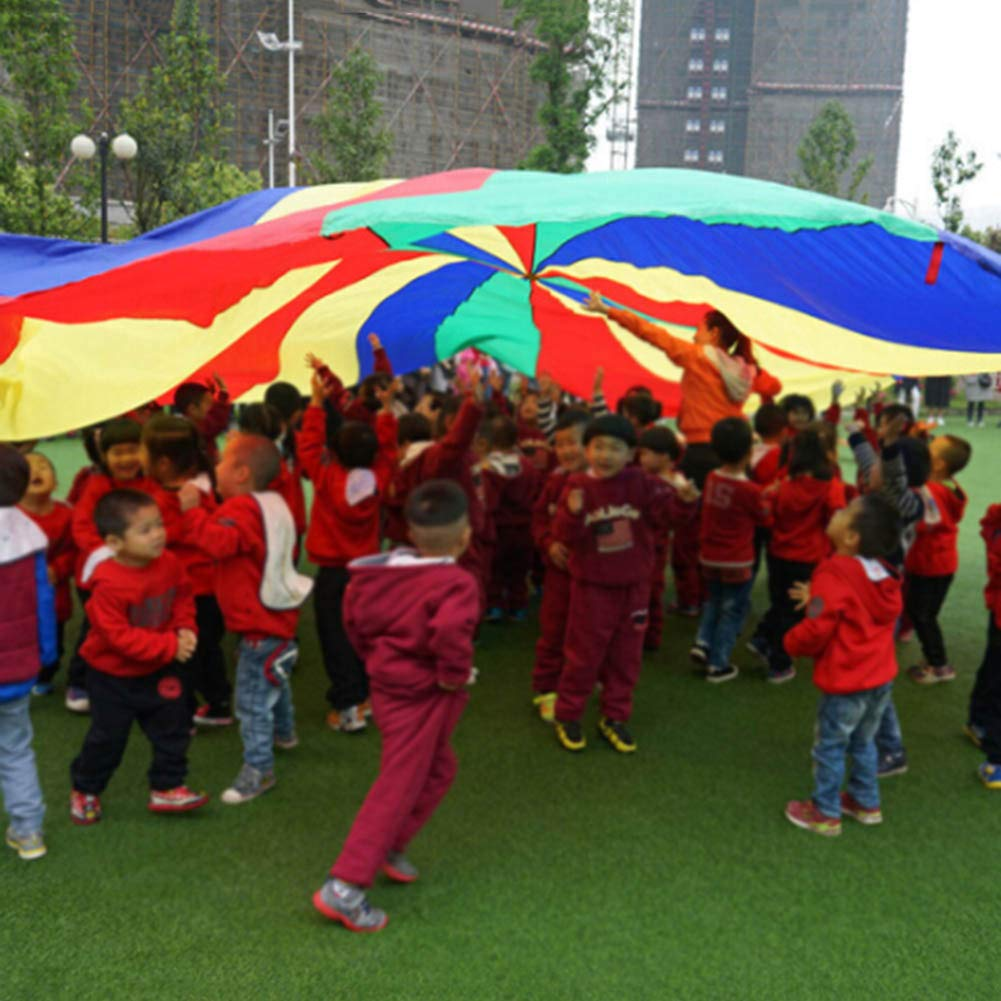 canghai Sports Multi-Colored Children's Team Building Parachute Rainbow Parachute Toy Tent for Children Gymnastic( L ) by canghai (Image #4)