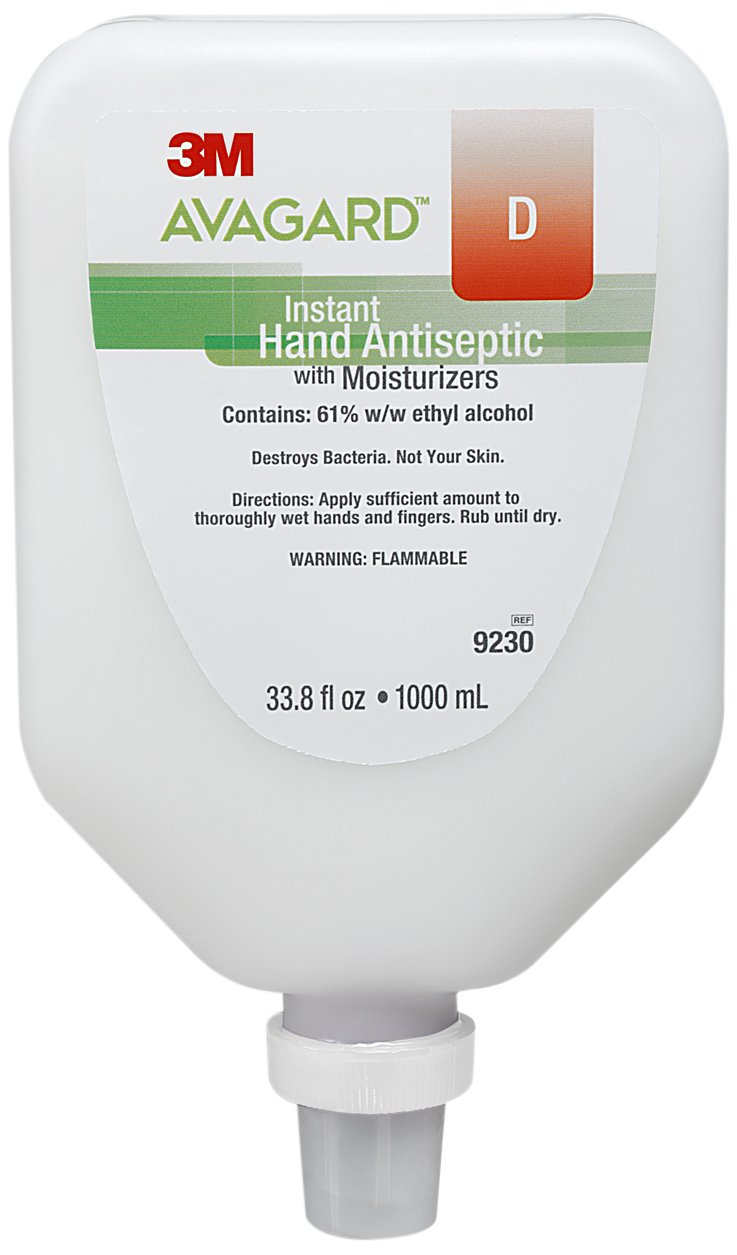 Avagard 9230 Instant Hand Antiseptic with Moisturizers, 61% Ethyl Alcohol (Pack of 5)