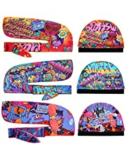 Premium Silky durag & Wave Cap(Multi Colors),Designer Durag With Long Wide Tail for 360 wave