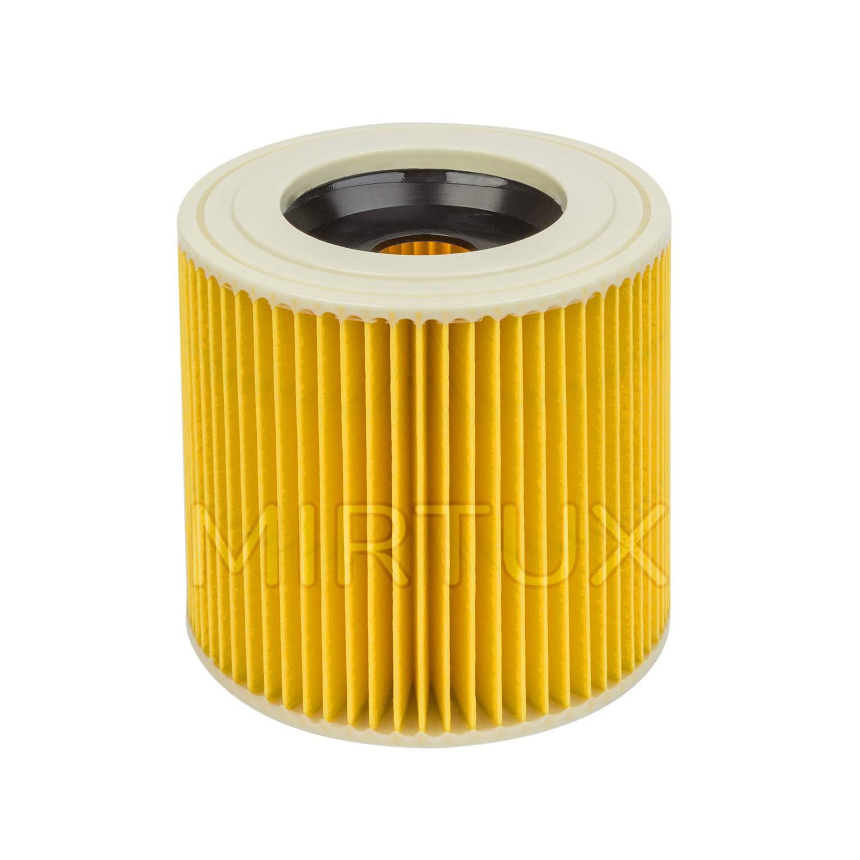 WD3 H/úmedo y Seco. Compatible con Modelos: Karcher A2004 A2204 WD2 A2054 MIRTUX Filtro Compatible para aspiradarora Karcher WD3
