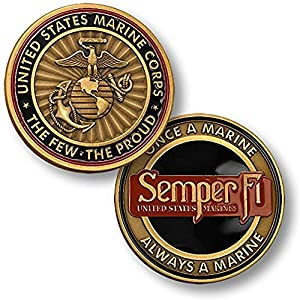 U.S. Marine Corps Semper Fi Challenge Coin. by Armed Forces Depot