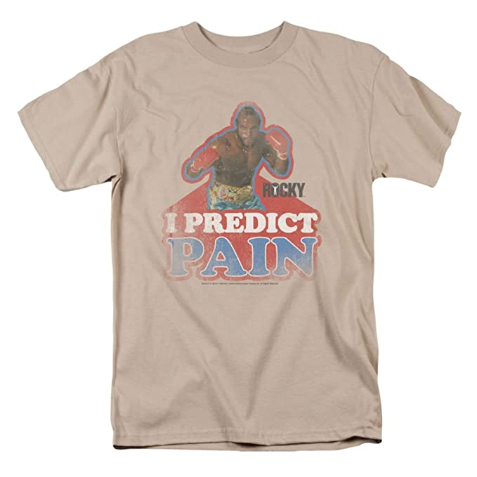 763191cbeabe Amazon.com: Rocky Movie Clubber Lang I Predict Pain Vintage Style T-Shirt:  Clothing