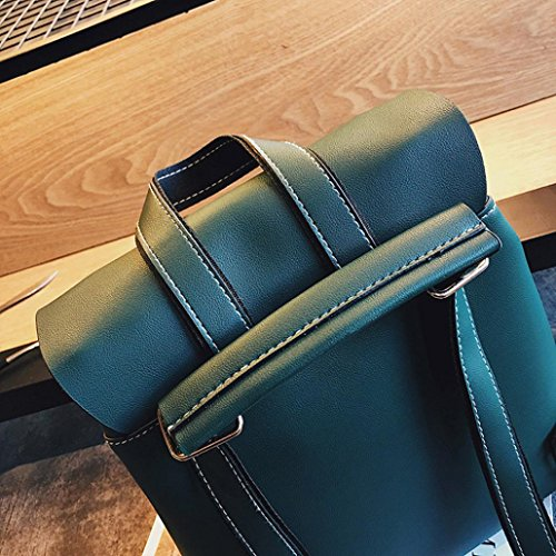 Fashion Hiking Backpack Brown Girls Leather Bags Travel Womens School Backpacks Rucksack TUDUZ Green Teenagers Women Backpack xw6wBPnt