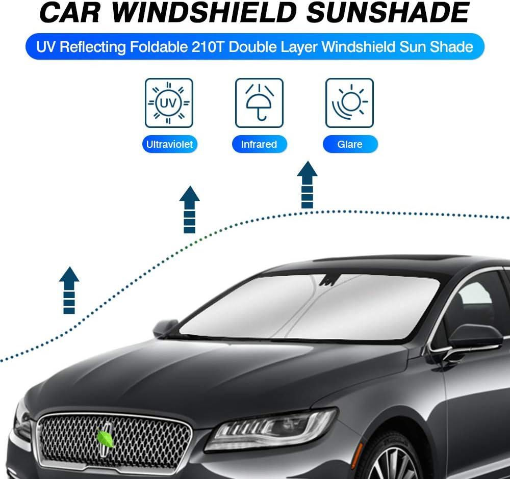 KUST Windshield Sun Shade for Lincoln MKZ Sedan 2013-2020 Sunshade Foldable Sun Visor Protector Blocks UV Rays Keep Your Car Cooler