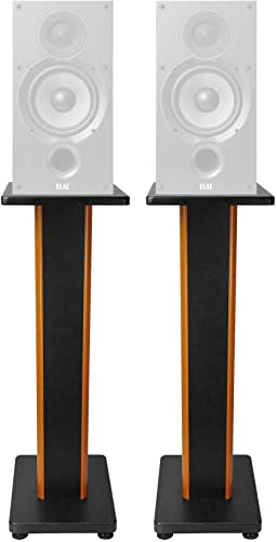 Pair 28 2-Tone Speaker Stands for ELAC Debut 2.0 B6.2 Bookshelf Speakers