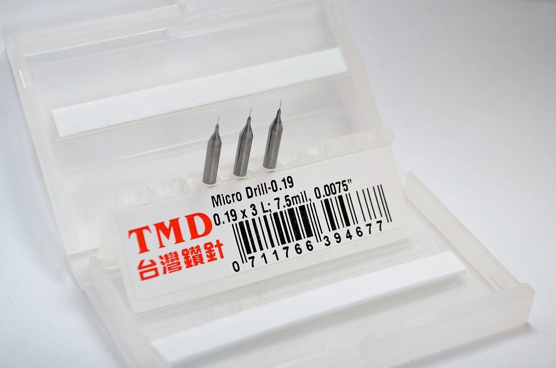 0.27 x 4.5L; 10.6mil 0.0106; Tolerance: +0 ~ -2 um +0 ~ -0.002 mm Taiwan MicroDrill Micro Drill