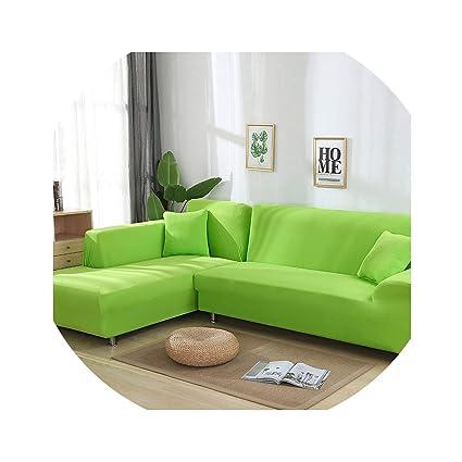 Amazon.com: Grey Color Elastic Couch Sofa Cover Loveseat ...