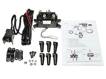 Amazon Com 12v Solenoid Relay Contactor Winch Rocker Thumb Switch Combo Compatible With Atv Utv 1500lb 5000lb Polaris 800 1000 Industrial Scientific