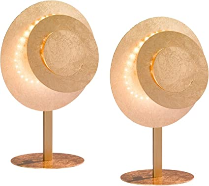 Exklusive LED Lámpara de mesa en doble Pack godlf Colores 12