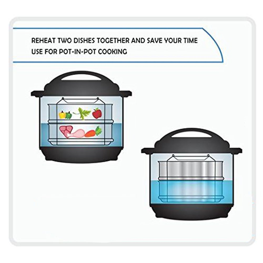 Stainless Steel Steamer Insert Pans with Sling, Tomods Stackable Instant Pot Accessories Fit 6&8 Quarrt Pressure Cooker and Instant Pot to Bake, Reheat, Lasagna Pans - Cook Recipes Include