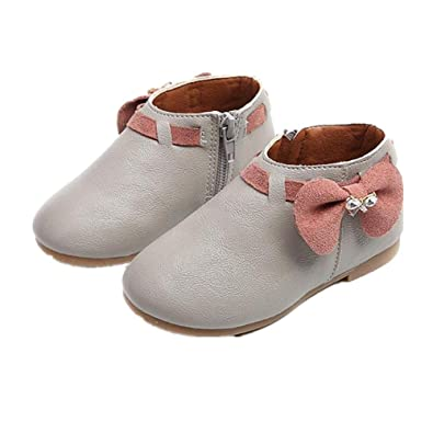 fff4678e4db3 Janly® for 1-6 Years Baby Girls Shoes Toddler Big Bowknot Patent ...
