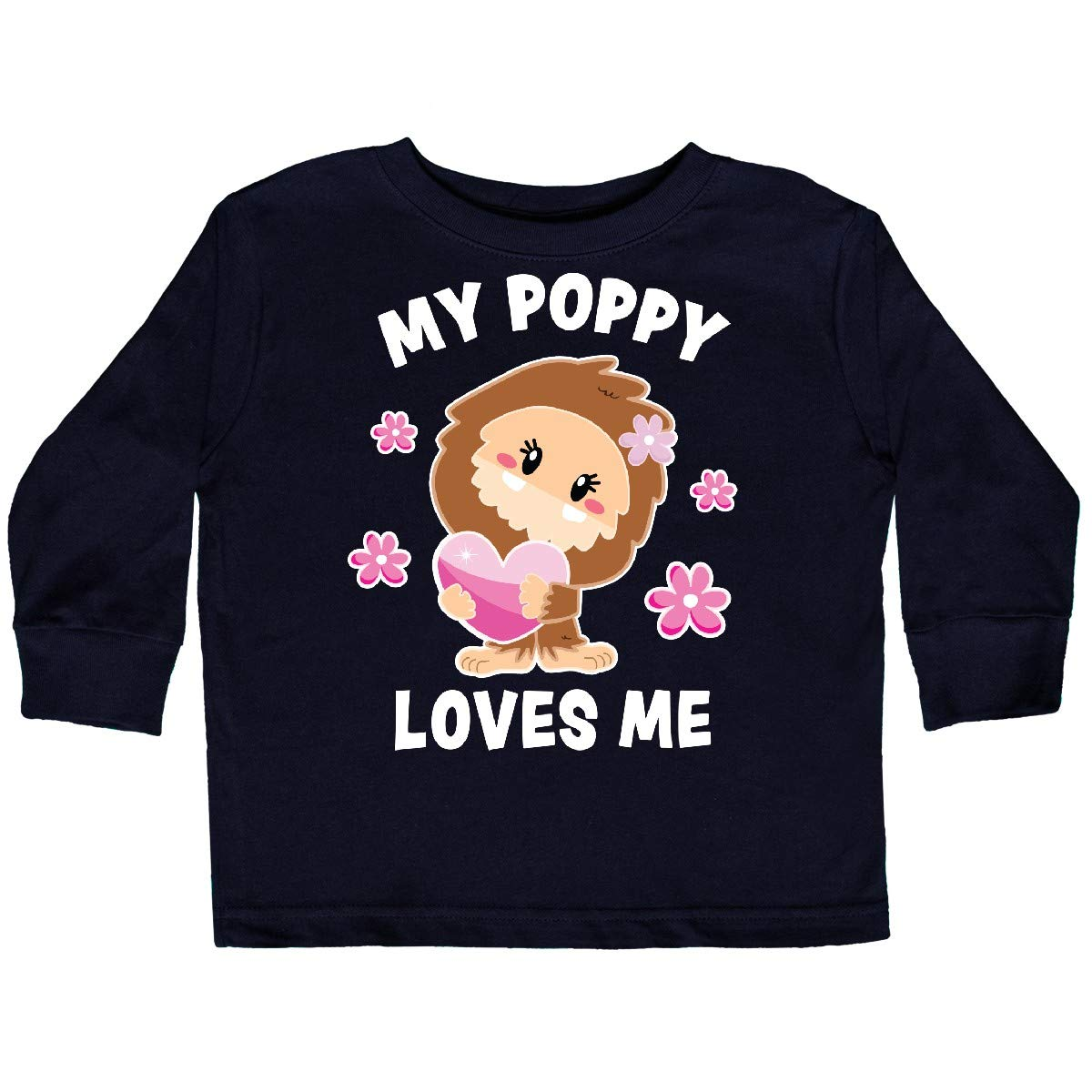 inktastic My Poppy Loves Me with Bigfoot Toddler Long Sleeve T-Shirt