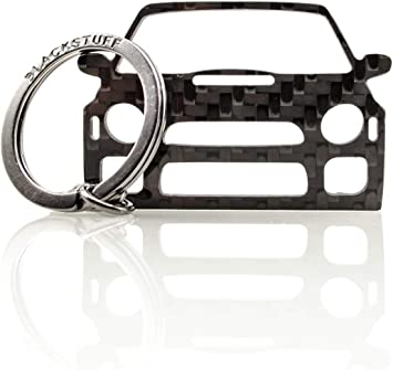 Blackstuff Carbon Karbonfaser Schlüsselanhänger Kompatibel Mit Impreza Gd Bugeye 2001 2003 Bs 117 Auto