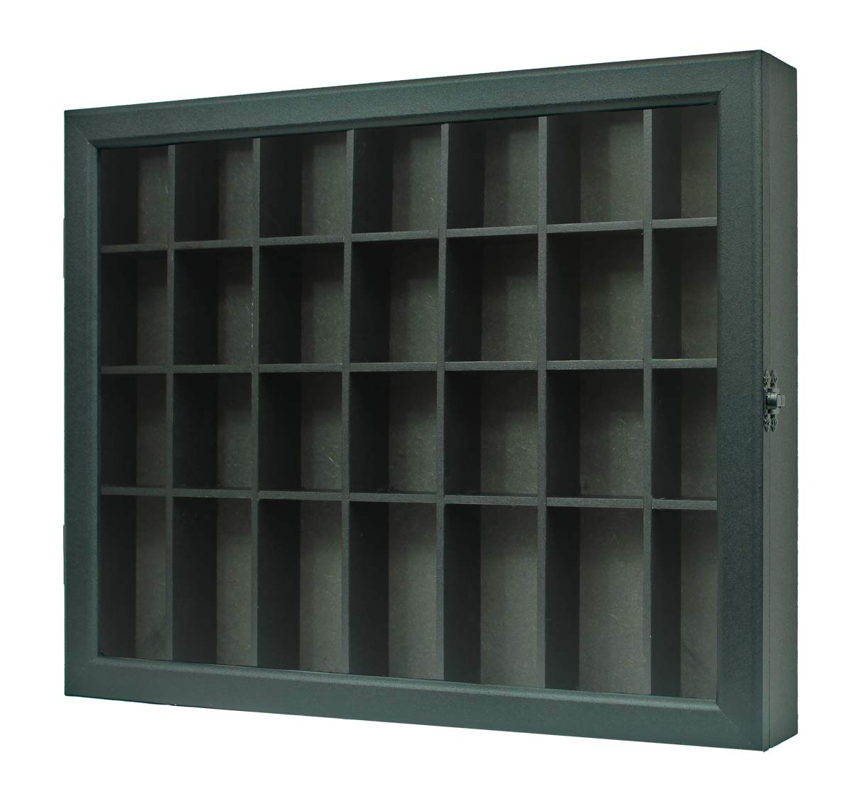 Shot Glass Display Case Shadow Box Cabinet Display Stand (Black) by DisplayGifts (Image #3)