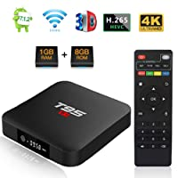T95 S1 TV Box Androide 7.1 Amlogic S905W Quad Core 1GB DDR/8GB eMMC scatola TV Intelligente con Telecomando H.265 WiFi 4K HDMI Media Player