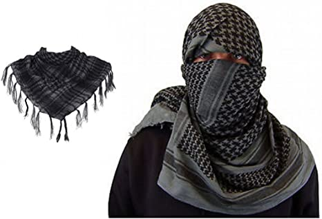 ARUNDEL SERVICES EU Gris árabe Shemagh Toca árabe Chal de algodón ...