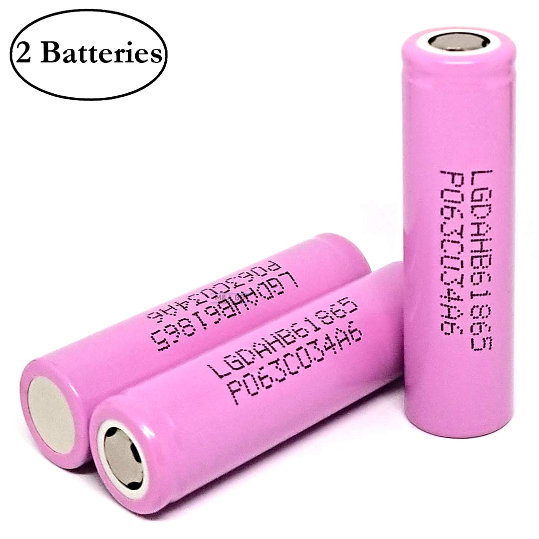 2 Pcs Original HB6 1500mAh 30A Rechargeable LG Flat Top Li-ion Battery for Electric Tools, E-Bikes, Toys, LED Flashlights, Torch, and Etc