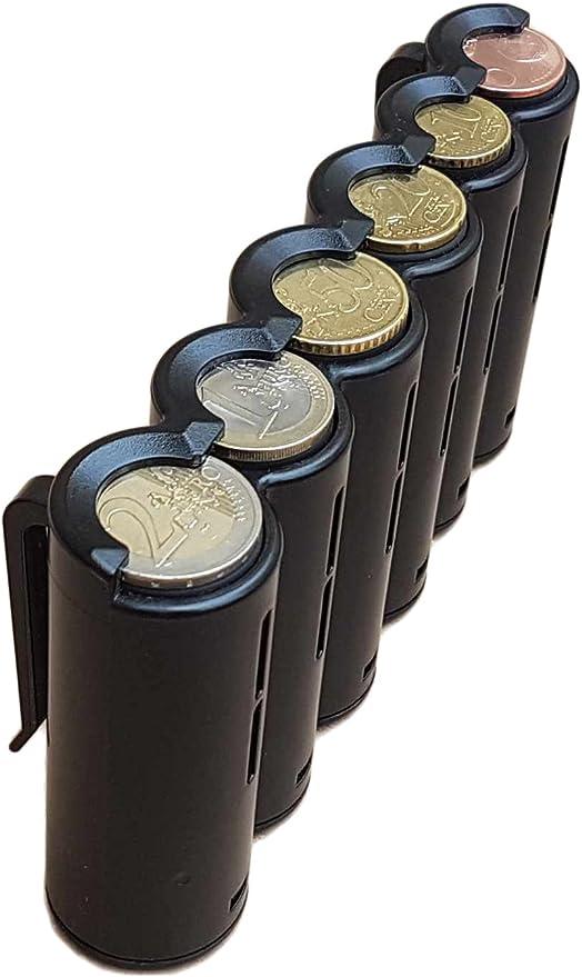 Tassisti Portamonete per i 8 tagli di moneta prodotto in Europa Conducenti CLAIRE-FONCET Distributore Portamonete 8 pezzi Venditori ambulanti Ideale per nostro Marsupio da camerieri