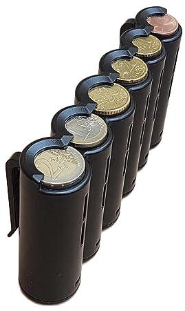 CLAIRE-FONCET Monedero con dispensador de monedas de 6 piezas de Euro, Monedero cintura, ideal para Camarero, Camarera, Taxis, Autobúses, vendedores ...