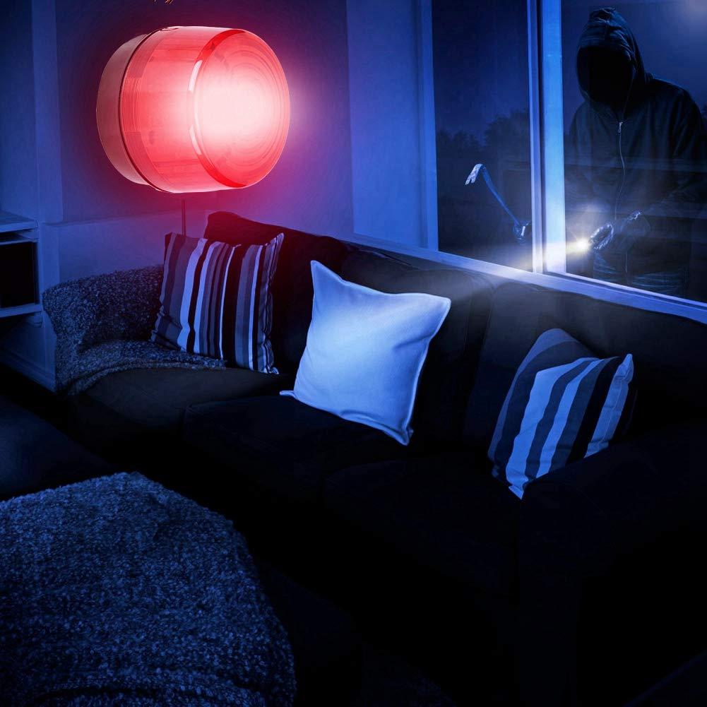 Compatible avec le Syst/ème dalarme Mise en R/éseau /Étanche Lumi/ère de Stroboscope du Signal de Danger LED Voyant Davertissement Durgence Eclair Avertisseur Flash Haute luminosit/é
