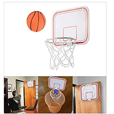 DUTISON Mini Basketball Hoop Children's Indoor Hanging Free Punch Basketball Folding Portable Mini Basketball Hoop Family Game (A): Toys & Games