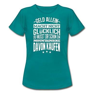 76a900814d454d Spreadshirt Glücklich Mountainbike Kaufen MTB Spruch Frauen T-Shirt   Amazon.de  Bekleidung