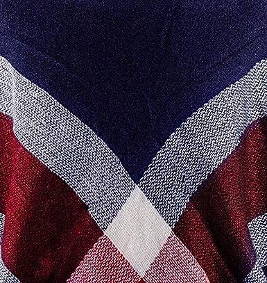 CAPRIUM XXL Damen Schal Kariert /übergro/ßer quadratisch Deckenschal Karo Tartan Streifen Plaid Muster Oversized Fransen Poncho