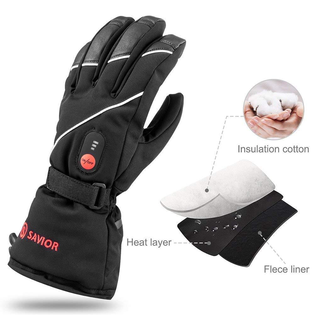 Vivi Beheizte Handschuhe, Touch Screen Wasserdichte Warmhandschuhe, geeignet für Motorradfahren, Wandern und Bergsteigen, Arbeitsstunden bis 2,5-bis 6 Stunden