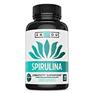 Non-GMO Spirulina Tablets, Highest Quality Spirulina on Earth, Sustainably Grown in California Without Pesticides, 100% Vegetarian & Non-Irradiated, 500mg in Each Small Tablet, 180 Count