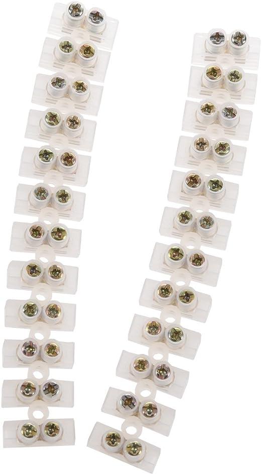 2 pcs Connecteur 12 Voie 10A electrique Borne a vis 2 R TOOGOO