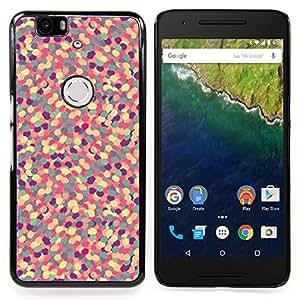 GIFT CHOICE / Teléfono Estuche protector Duro Cáscara Funda Cubierta Caso / Hard Case for Huawei Google Nexus 6P // Abstract Pattern Purple Floral Pill //