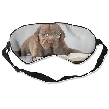 Goods Shops Máscara de Dormir de Seda de Morera para Perro Labrador con Gafas de Sol para Lectura de Ojos máscaras Ajustables Sombra de Ojos para Dormir: ...