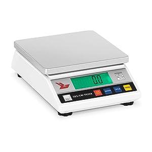 Balance de Précision Cuisine Professionnelle SBS-LW-7500A (7.500g/0,1g, surface de pesée 18x18cm, 26x8x18cm, temps de chauffe 3 min)