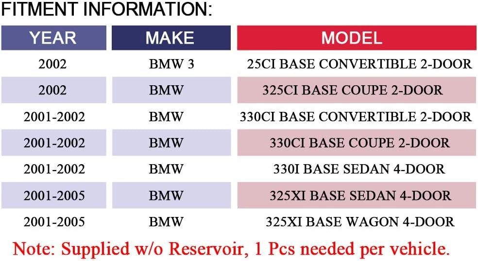 OE-Quality Power Steering Assist Pump MAYASAF 21-5310 Brand New Power Steering Pump Fit 2002 BMW 325Ci 2.5L 2001-05 BMW 325xi 2.5L 2001-02 BMW 330i 3.0L//330Ci 3.0L