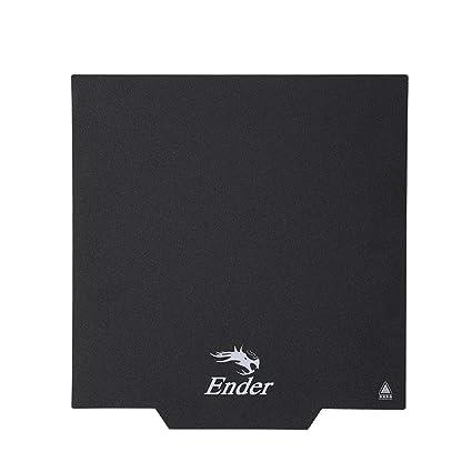 Creality 3D Ender-3 Compatibilidad magnética Placa de superficie Placas adhesivas Impresora 3D extraíble Cubierta de cama con calefacción 235*235mm ...