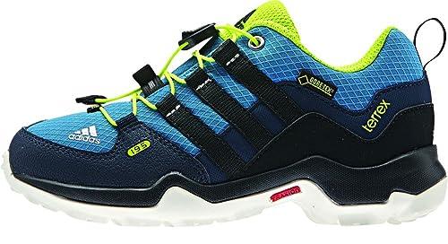 adidas Terrex GTX K - Zapatillas para niño, Color Azul/Negro/Lima,