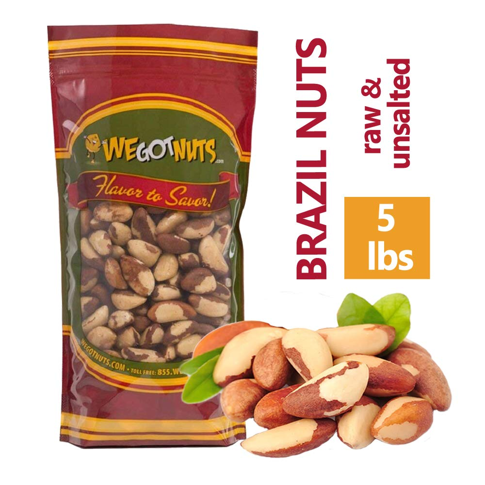 Amazon com : Brazil Nuts - 2 Pounds, Whole, Shelled, Raw, Natural