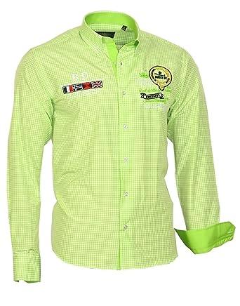 308e57cd3674 Louis Binder de Luxe Herren Herren Hemd kariert Bestickt modern fit Langarm   Amazon.de  Bekleidung