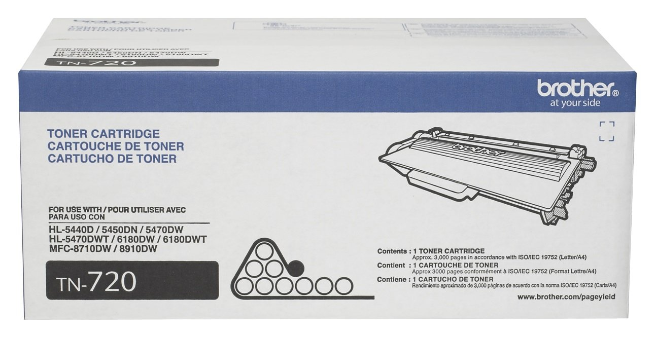 Brother Genuine Standard Yield Toner Cartridge, TN720, Replacement Black Toner, Page Yield Up To 3,000 Pages, Amazon Dash Replenishment Cartridge by Brother (Image #2)