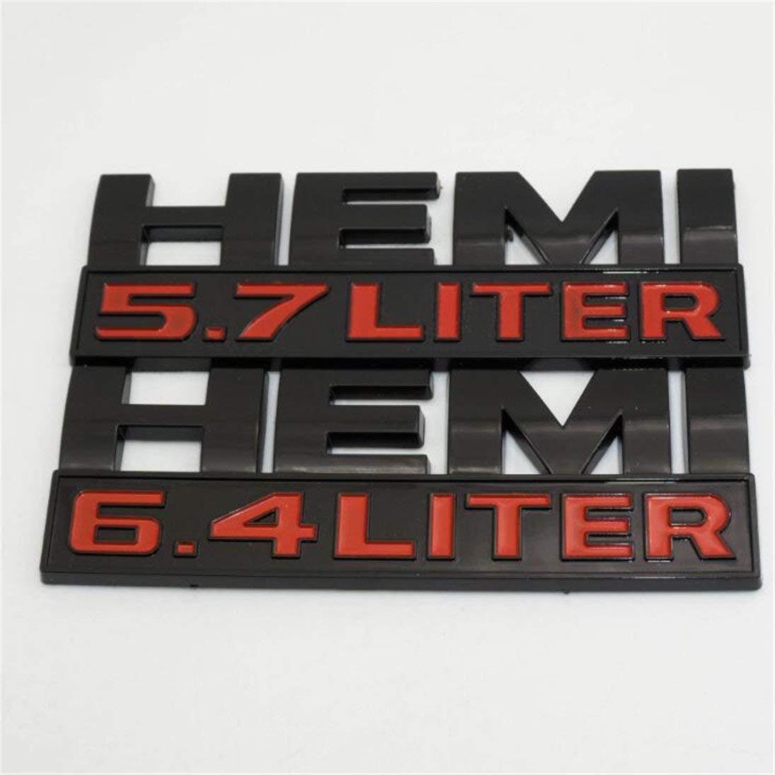 2 st/ücke Schwarz Ram Hemi 5,7 Liter Logo Aufkleber Emblem Typenschild Abzeichen