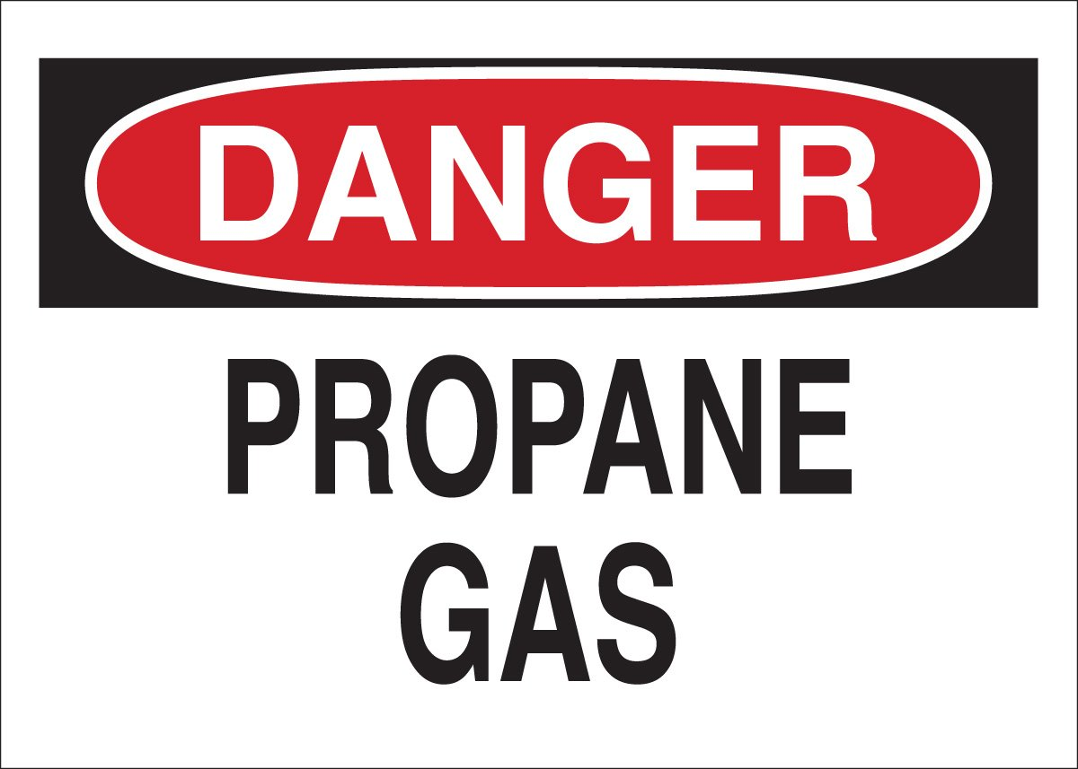 10 X 14 Brady 73420 Premium Fiberglass Chemical /& Hazardous Materials Sign Legend Propane Gas