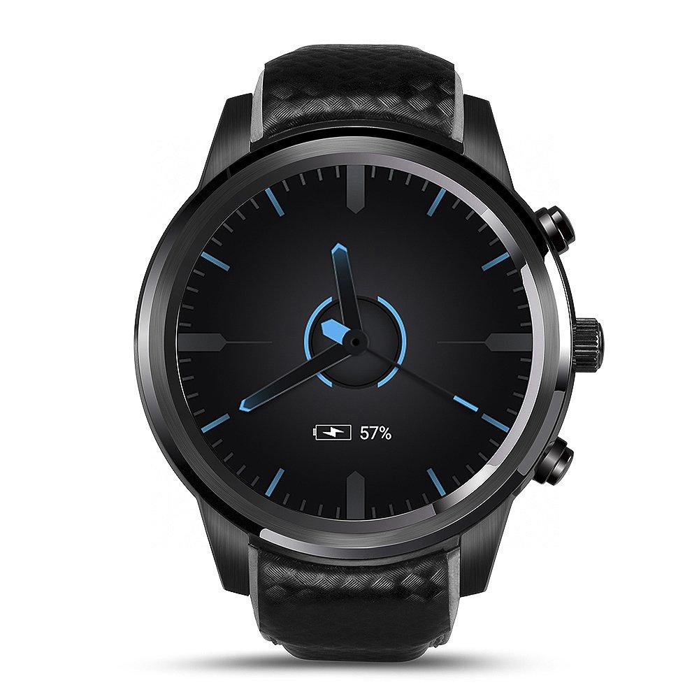 "| LEMFO Smart Watch Phone,Android 5.1 OS 3G Watch ROM 8G+RAM 1G Nano SIM Card 1.39"" OLED Screen 1.3GHz Quad Core CPU GSM+WCDMA Wifi BT4.0 GPS Heart Rate Smartwatch"