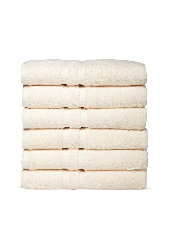 Chortex Irvington %100 Turkish Cotton Hand Towel, Set of 6 (Cream)