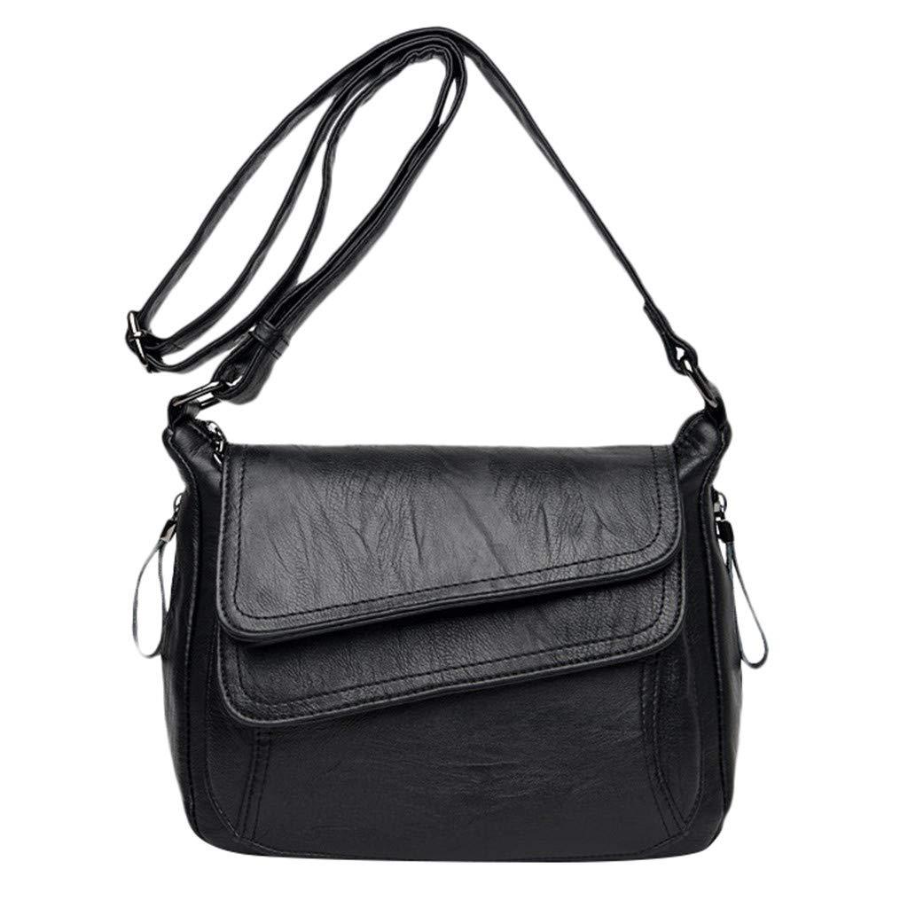 Fashion Ladies Luxury Soft Leather Versatile Messenger Bag Shoulder Bag