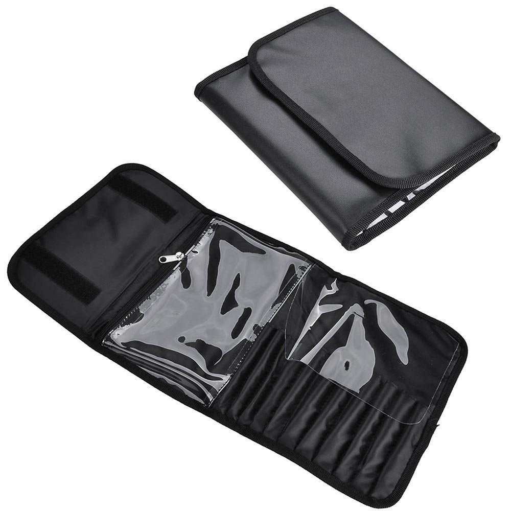 AW 1200D Oxford Pro Black Soft Makeup Train Bag Case Pockets 17x9x12 Artist Cosmetic Organizer Box Travel Outdoor