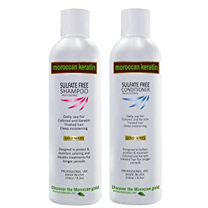 Moroccan Keratin Sulfate Free Shampoo & Conditioner Set Infused with Moroccan Argan Oil