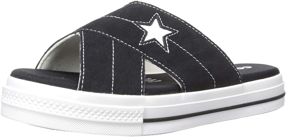 One Star Suede Slip Sandal