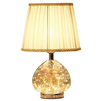 YZPTD Lámpara de mesa decorativa nórdica dormitorio lámpara ...